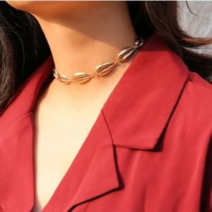 Jewelry - Choose Gold or Silver Cowrie Shell Choker Necklace